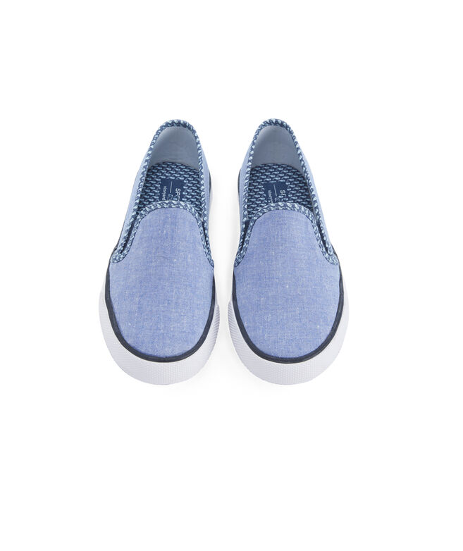Big Kids Sperry x vineyard vines Chambray Seaside Slip On