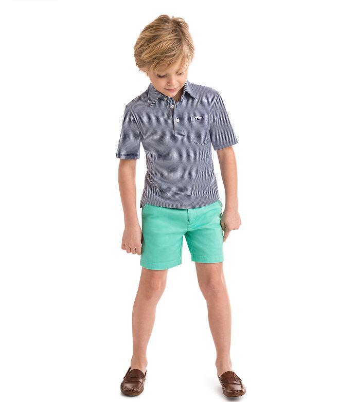 Boys Feeder Stripe Edgartown Polo