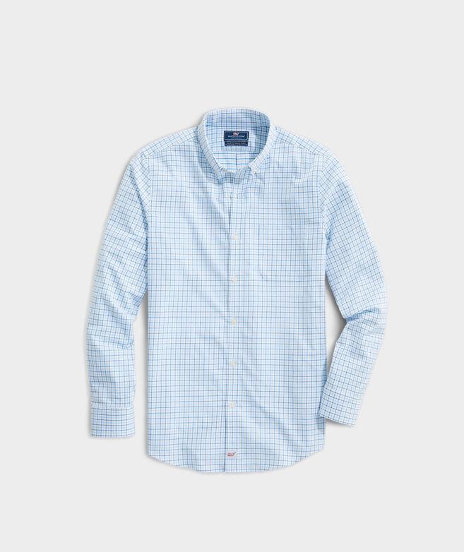 Slim Fit Sapodilla Cotton Performance Murray Button-Down Shirt