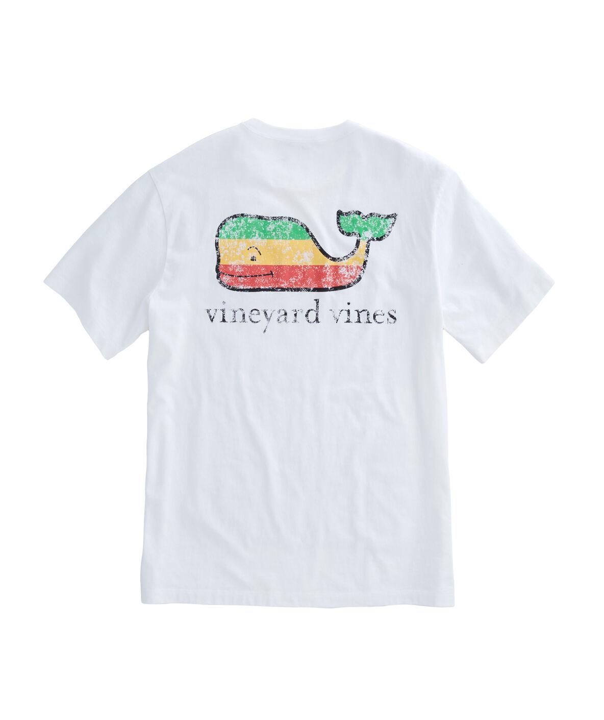 Shop Short Sleeve Rasta Whale Pocket T Shirt At Vineyard Vines
