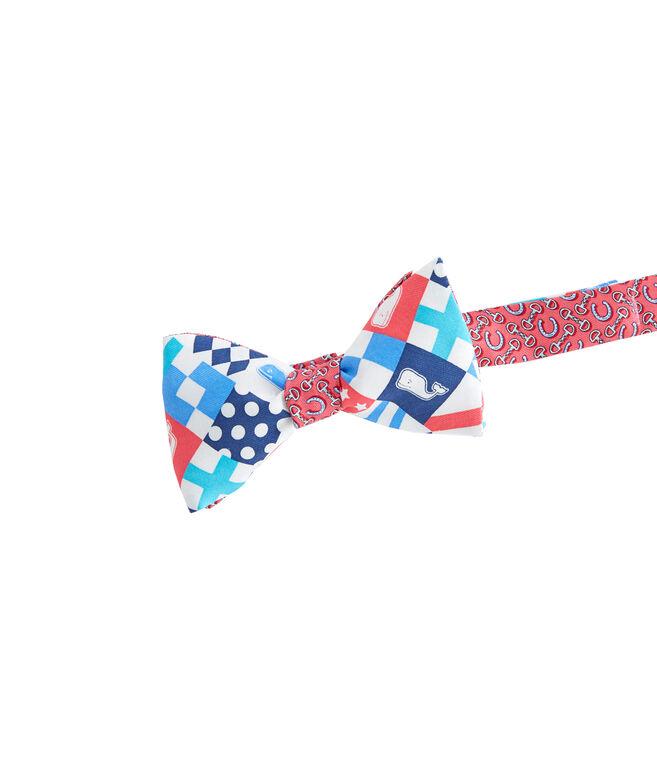 Patchwork Panel Bow Tie