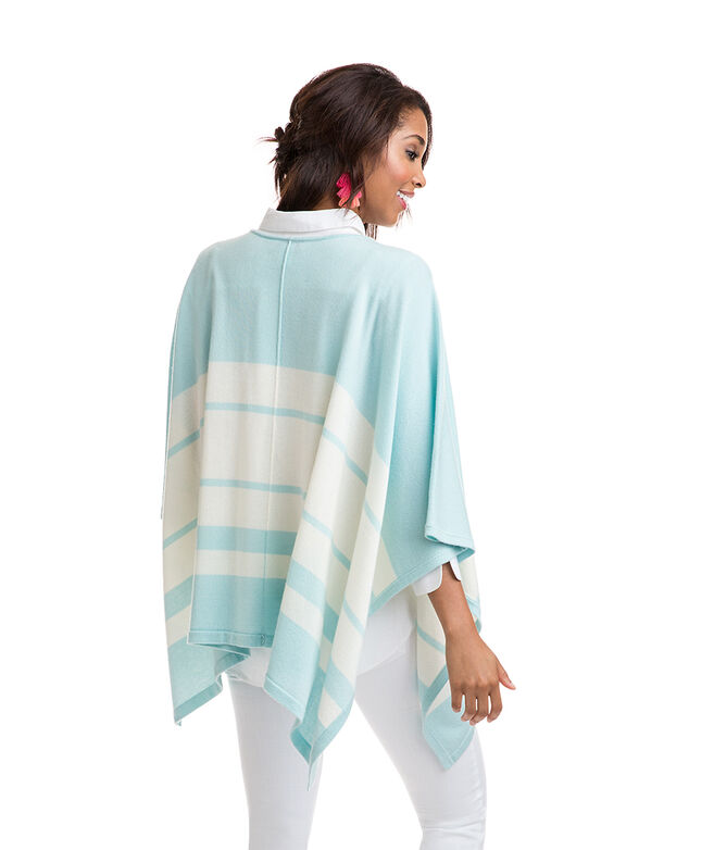 Striped Sweater Poncho