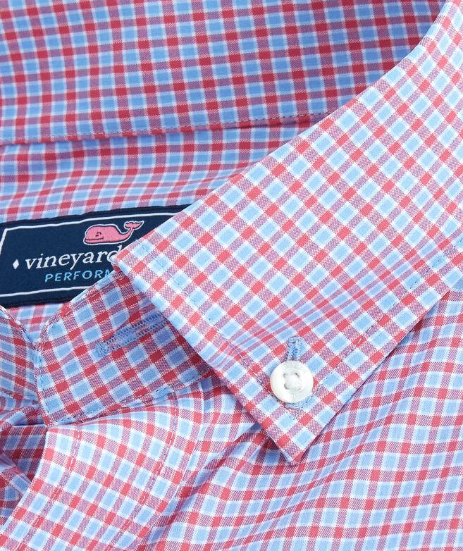 OUTLET Men's Bavaro Check Performance Slim Whale Shirt