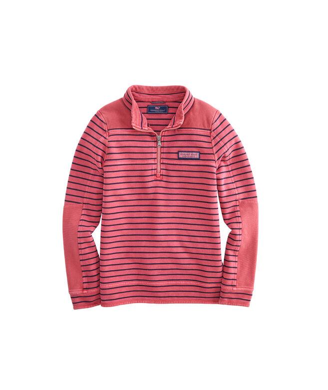 Boys Garment-Dye Pique Shoulder Shep Shirt