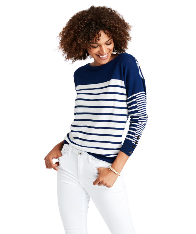 Mixed Stripe Merino Wool Sweater