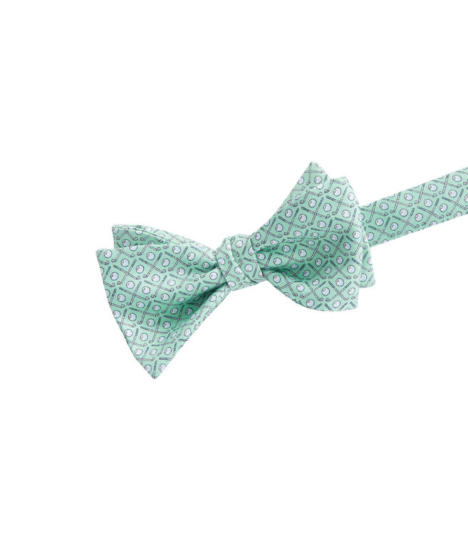 Golf Clubs Bow Tie