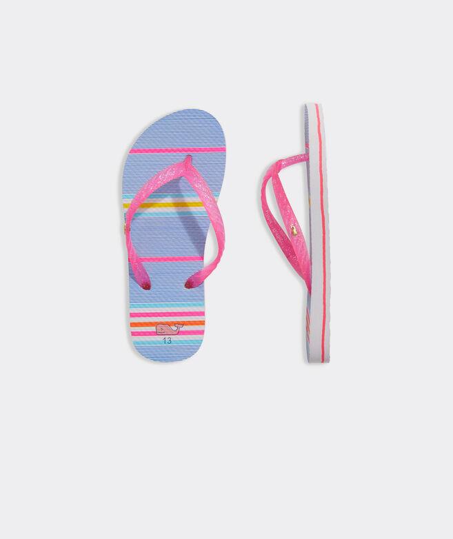 Girls' Beachy Stripe Printed Flip Flop