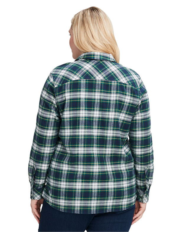 Pine Plaid Flannel Relaxed Button-Down Shirt