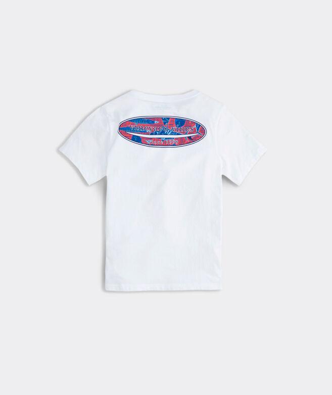 Boys' Tribal Fish Surfboard Fill Short-Sleeve Pocket T-Shirt