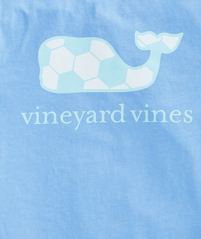 Girls Soccer Whale Short-Sleeve Pocket Tee