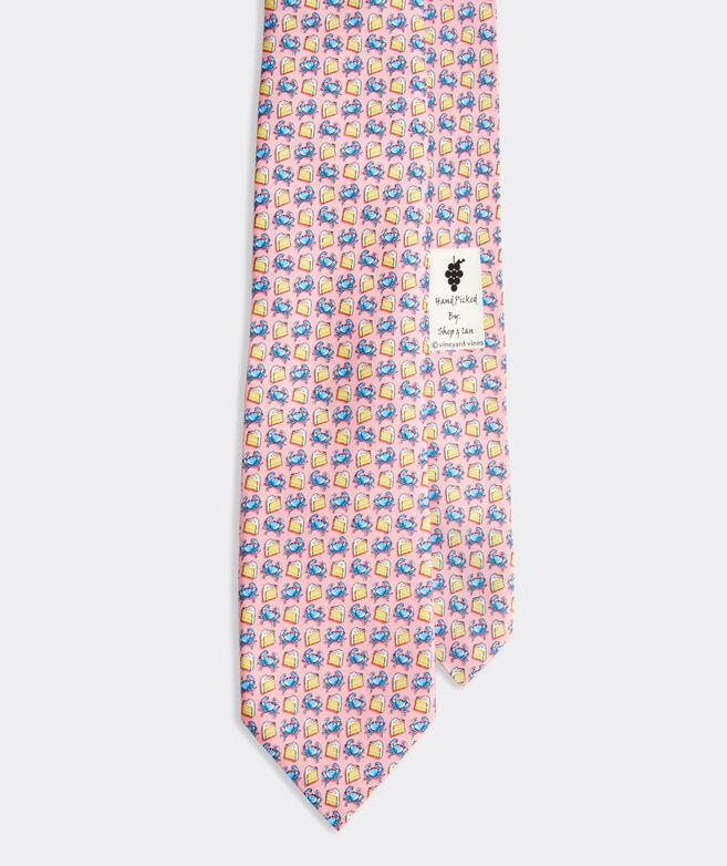 Crab Cake Printed Tie