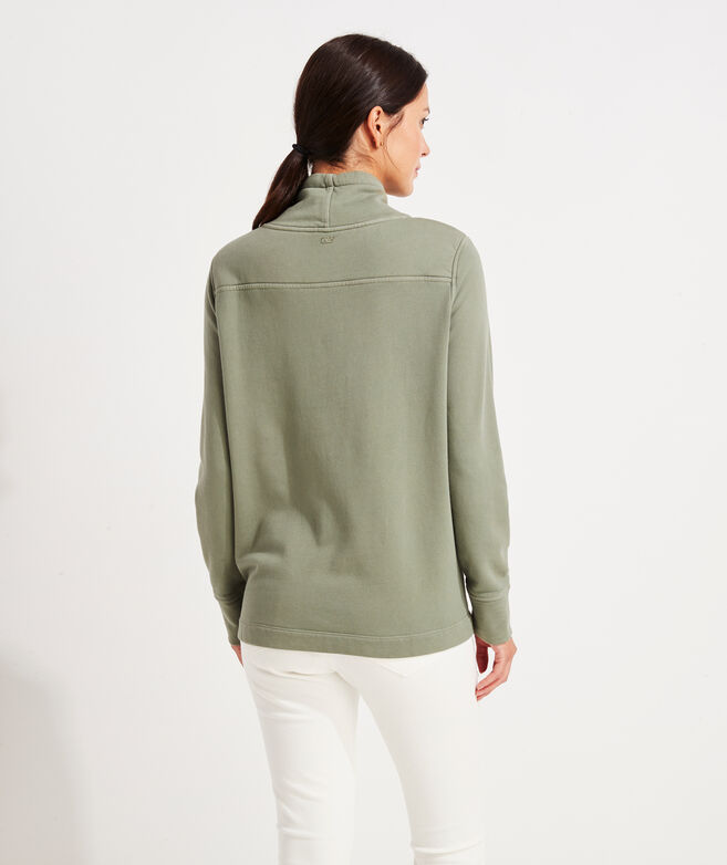 Garment-Dyed Funnel-Neck Shep Shirt
