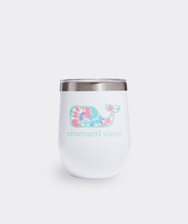 Tie-Dye Whale Corkcicle Stemless