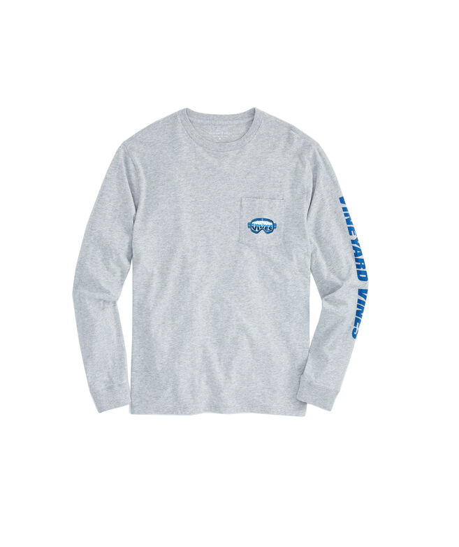 Long-Sleeve Ski Goggles Pocket T-Shirt