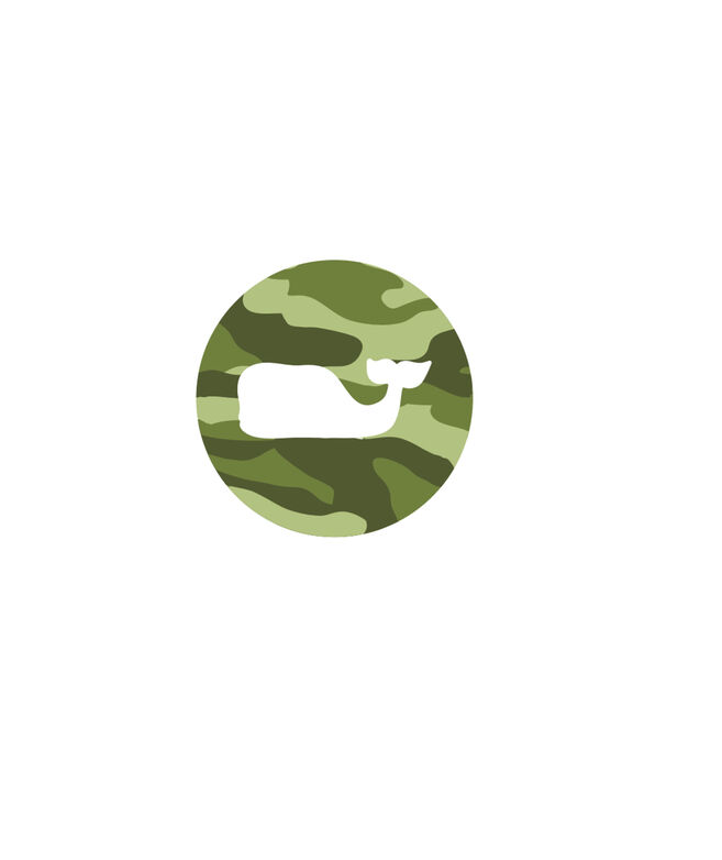 Camo Whale Dot Printed Sticker (Pack of 5)