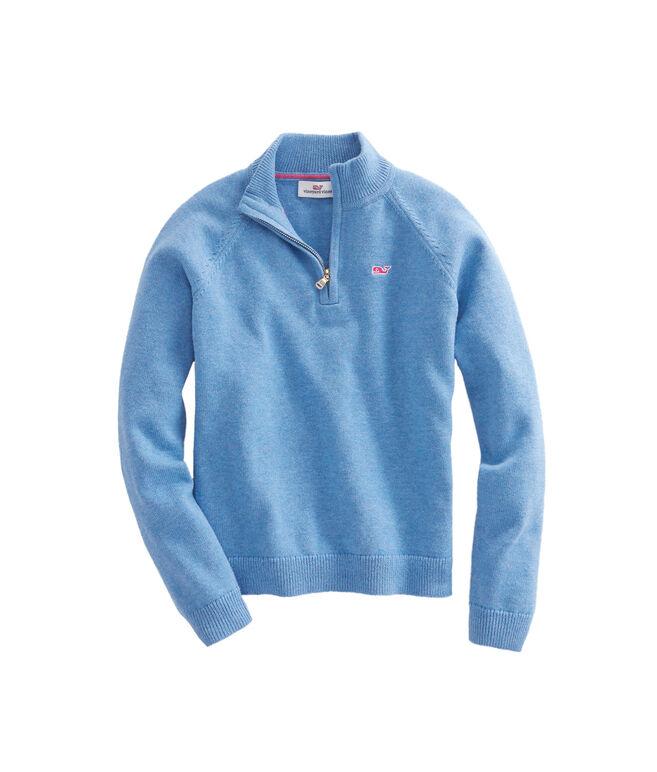 Girls 1/4-Zip Sweater
