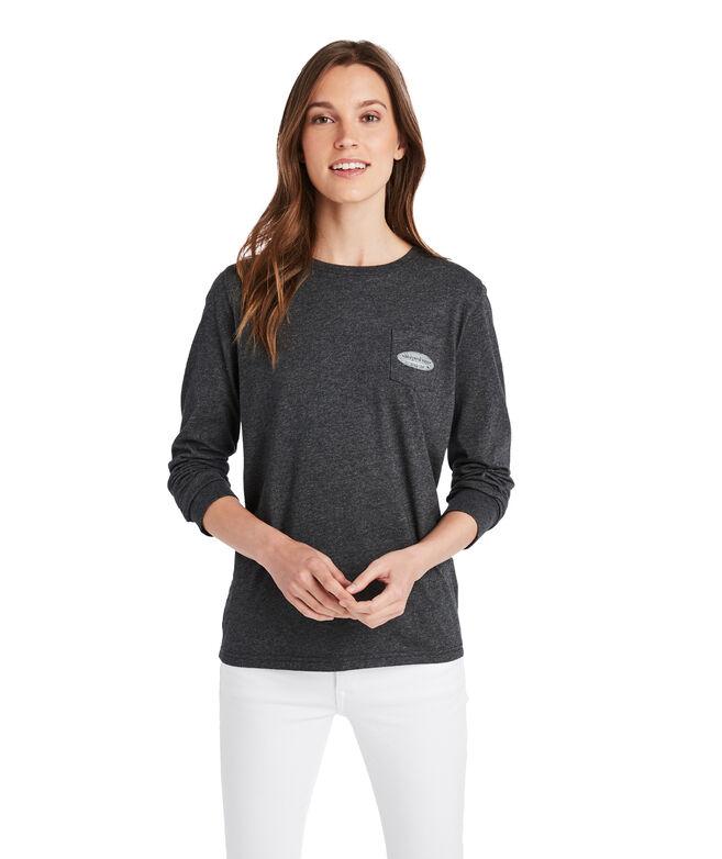 Long-Sleeve Surf Logo Fill Pocket Tee