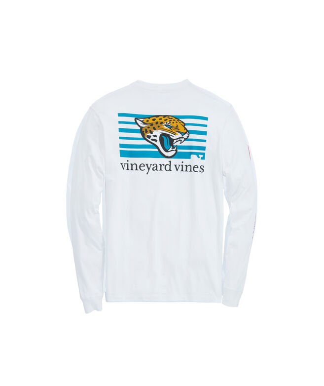 Jacksonville Jaguars Long-Sleeve Block Stripe Tee