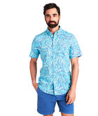 Short-Sleeve Island Palms Slim Murray Shirt