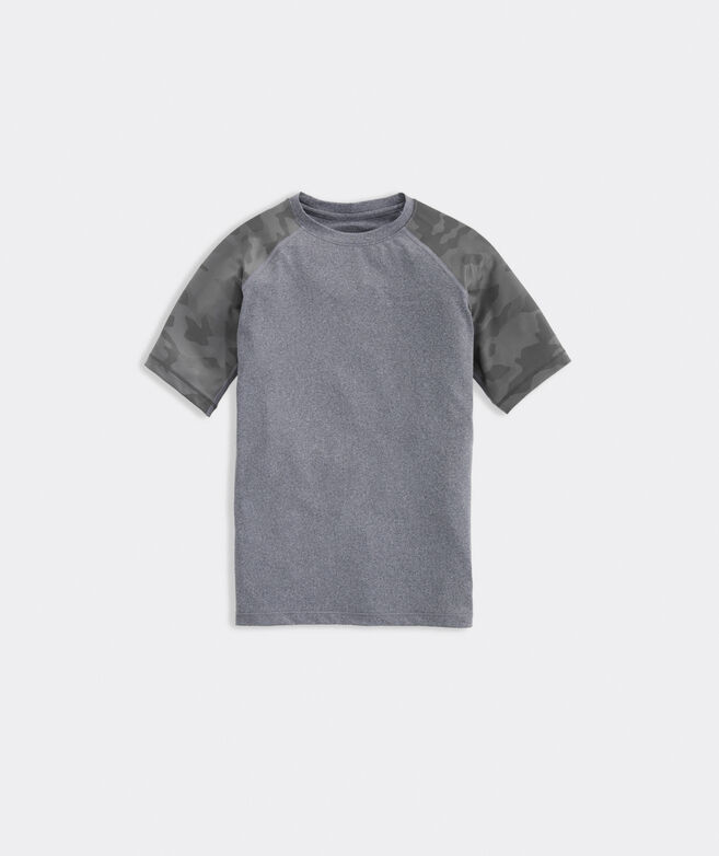 Boys' Camo Sleeves Short-Sleeve Performance Tee