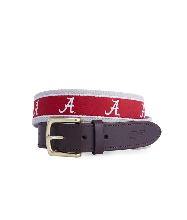 University of Alabama Canvas Club Belt
