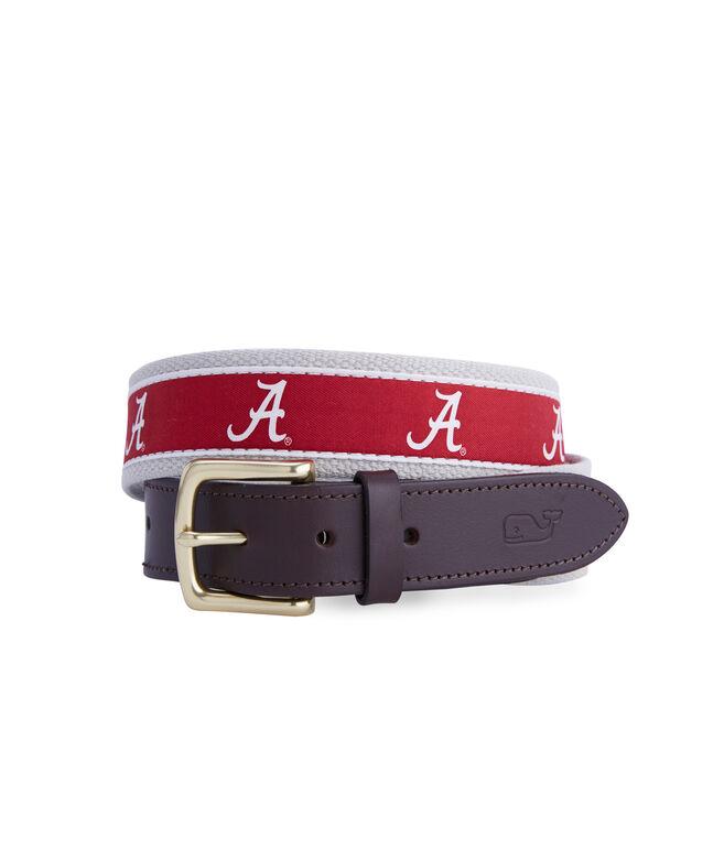 University of Alabama Canvas Club Belt
