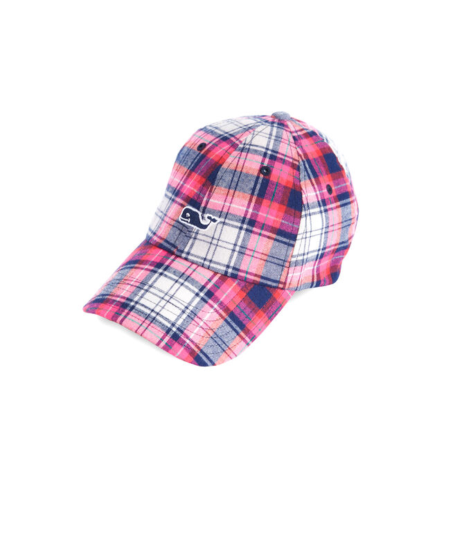 shop plaid baseball hat at vineyard vines