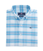 Boys Terrace Plaid Oxford Whale Shirt