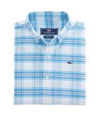 Boys Terrace Plaid Oxford Whale Shirt