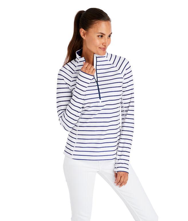 Striped 1/2-Zip