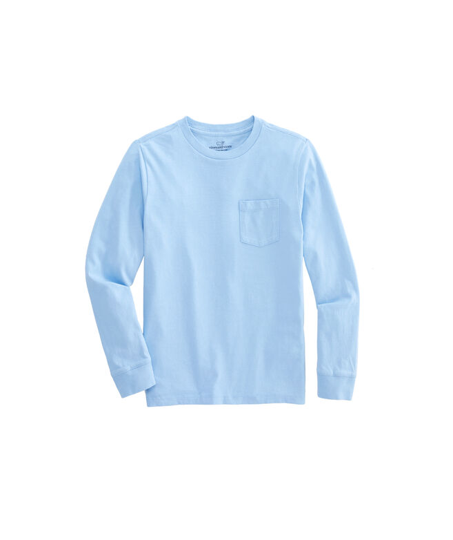 Long-Sleeve Boys Pocket T-Shirt