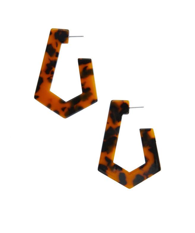 Tortoise Geometric Hoop Earrings