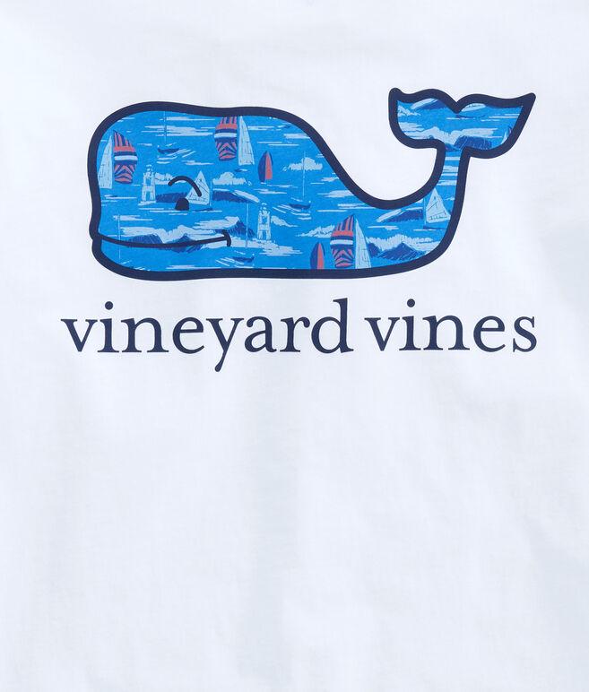 Vineyard Scene Whale Fill Pocket T-Shirt