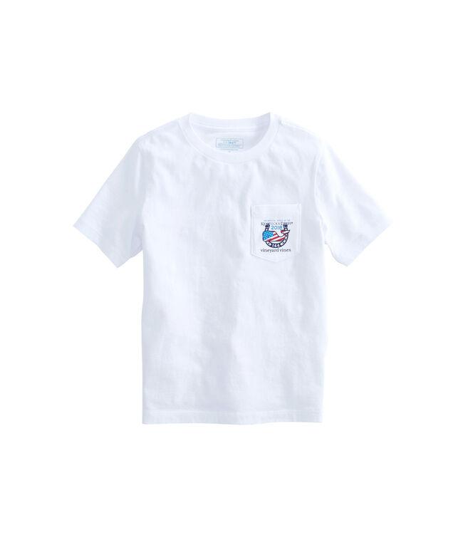 Boys USA Kentucky Derby Logo Pocket T-Shirt