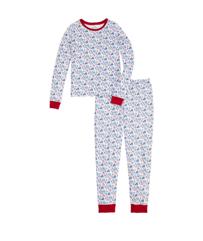 Girls Holiday Snug Fit Pajama Set