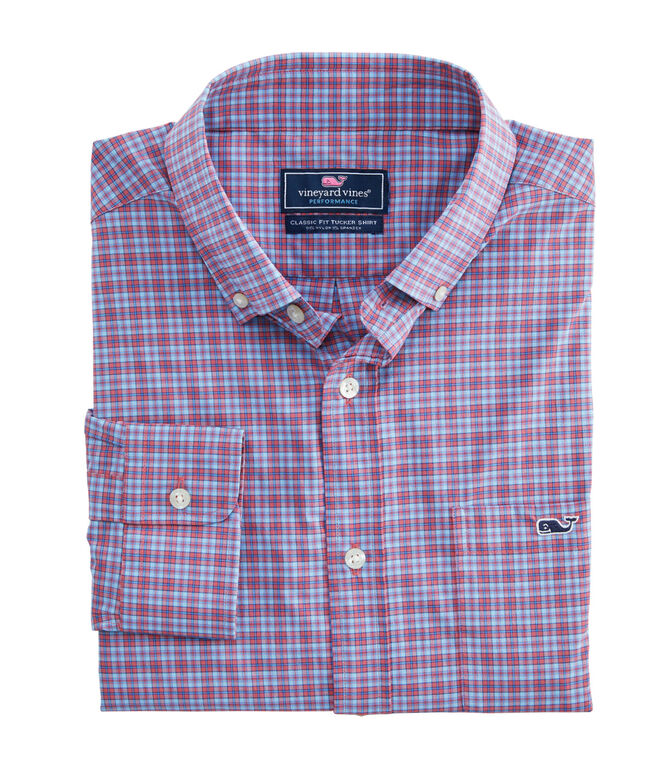 Plaid Performance Classic Tucker Shirt