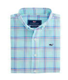 Boys Capaum Plaid Whale Shirt