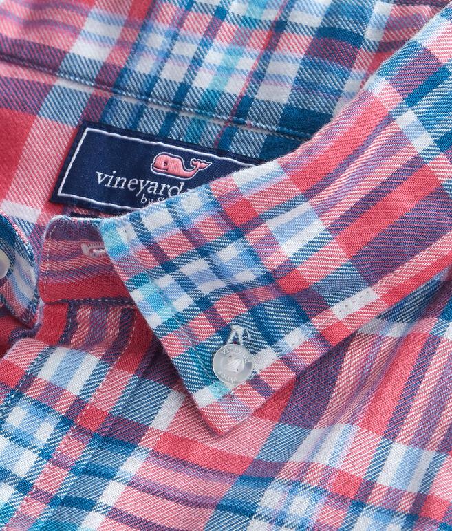 Middleton Place Plaid Performance Flannel Slim Tucker Shirt