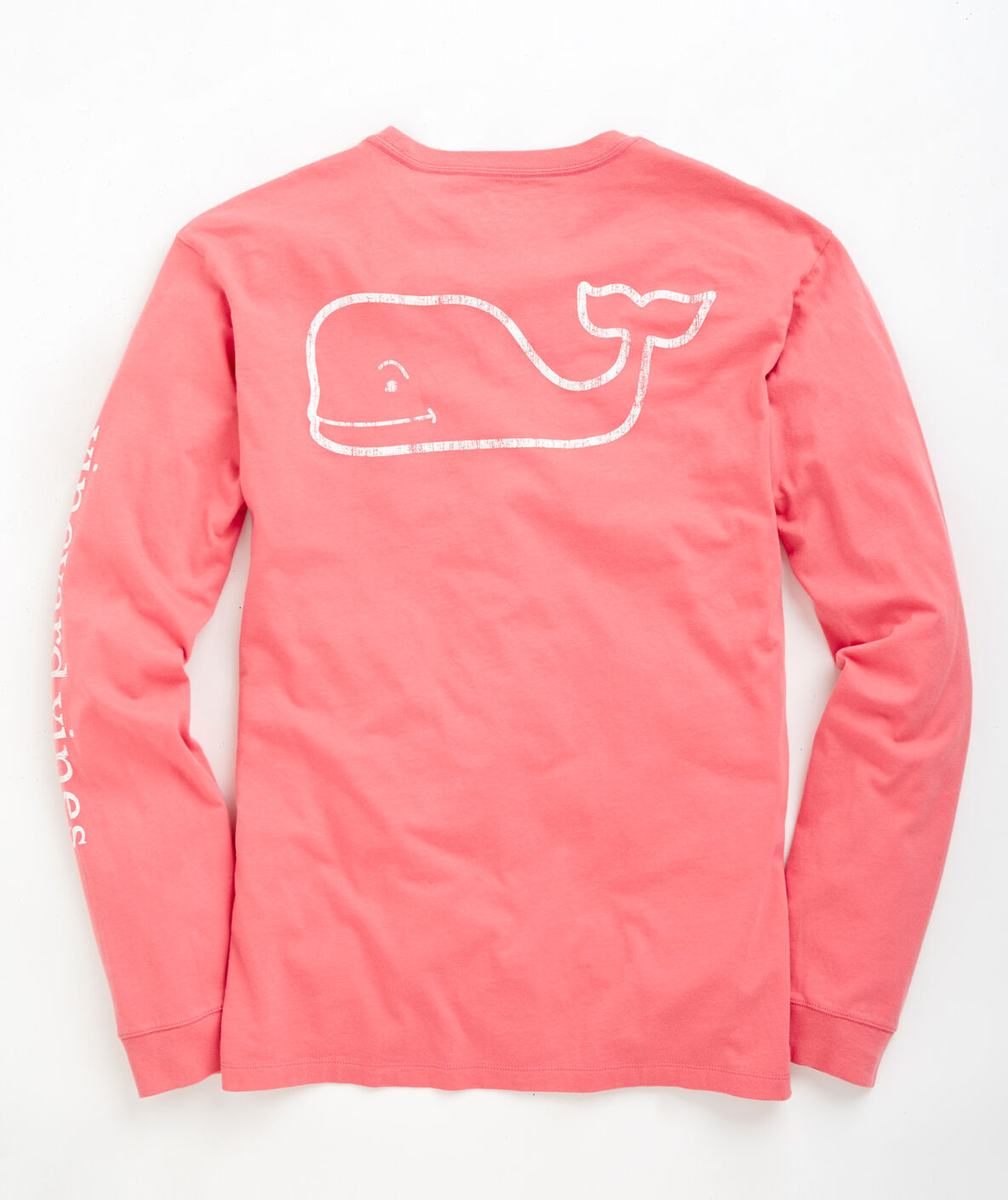 shop long sleeve vintage whale graphic pocket t shirt at