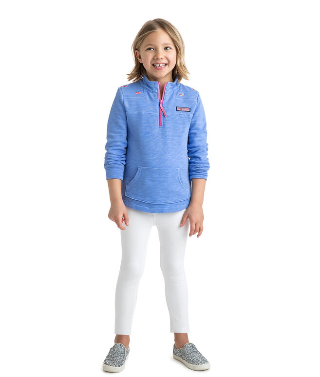 Girls Garment Dyed Whale Embroidered Relaxed Shep Shirt