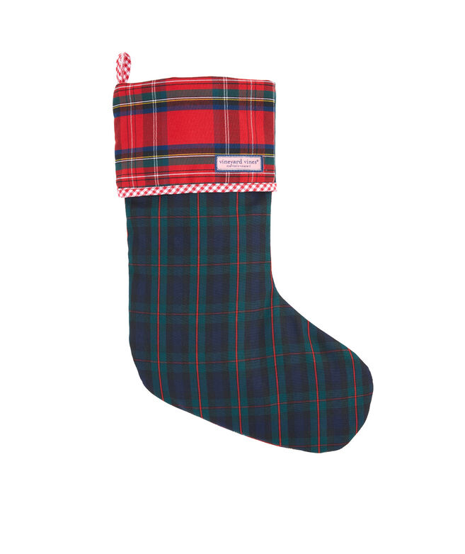 Party Plaid Stocking