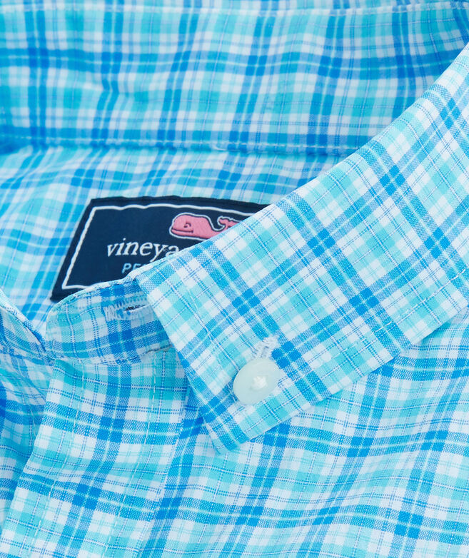 Boys Performance Small Check Whale Shirt