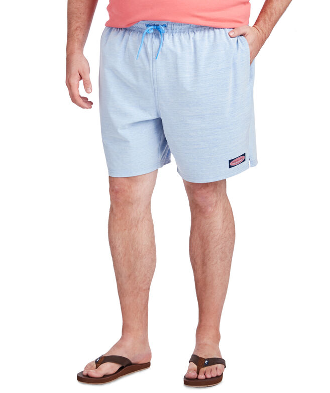 Big & Tall Solid Heathered Chappy Trunks