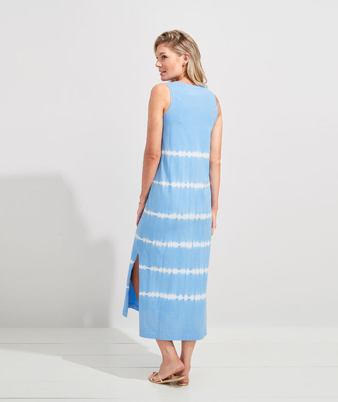 Tie-Dyed Knit Maxi Dress