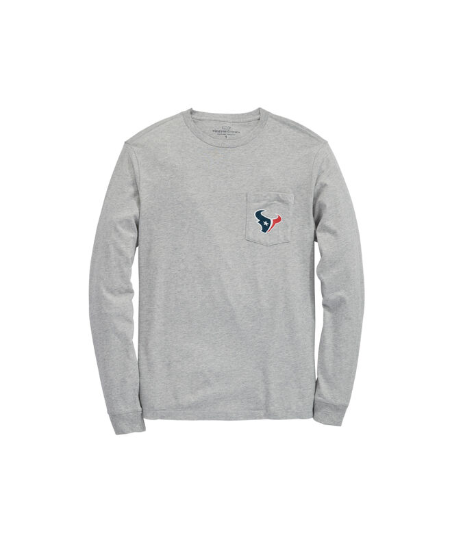 Houston Texans Long-Sleeve Block Stripe T-Shirt