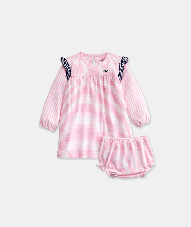 Baby Vineyard Feeder Stripe Ruffle Dress