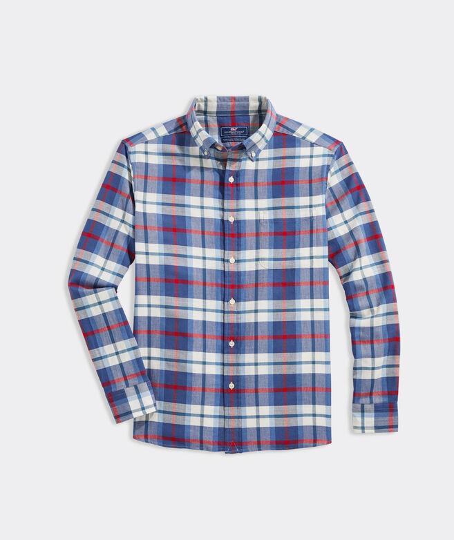 Big & Tall Plaid Island Twill Shirt