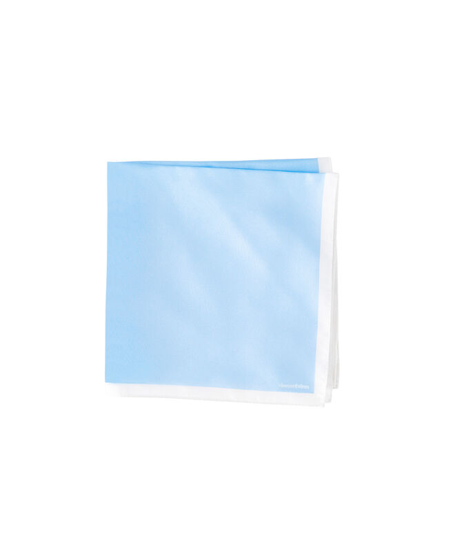 Light Blue/White Pocket Square