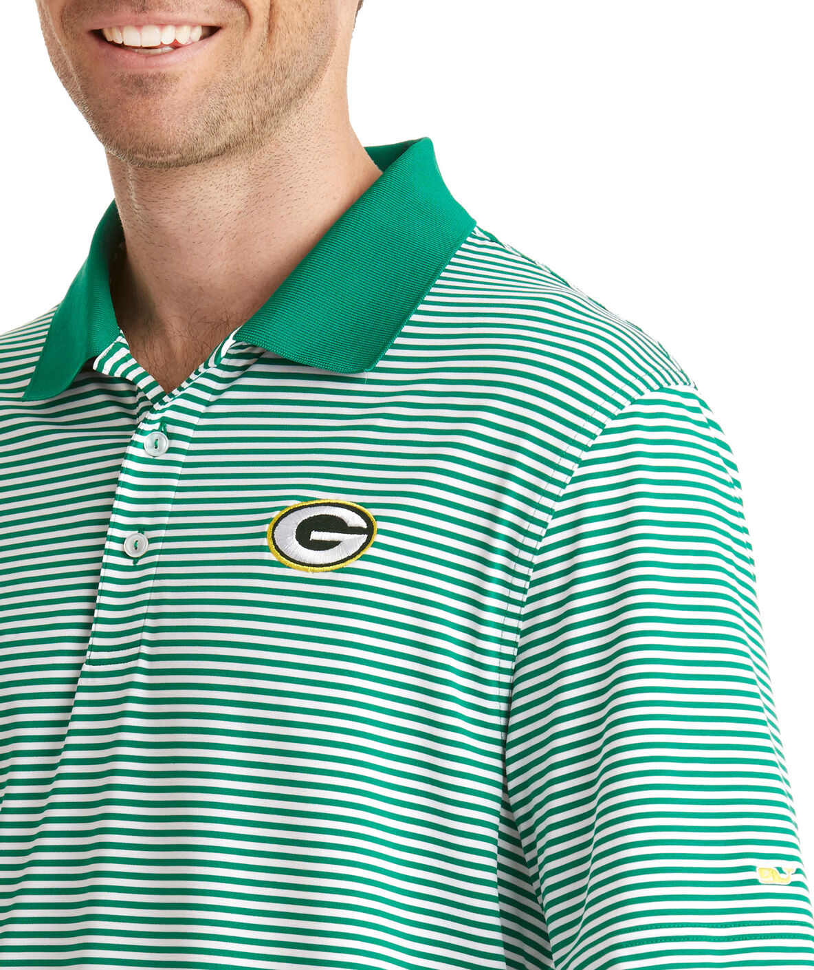Shop Green Bay Packers Porter Stripe Polo At Vineyard Vines