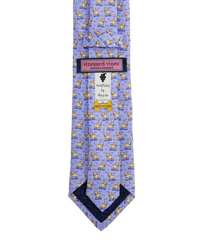 French Bulldog Printed Tie